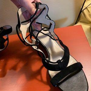 Cole Haan Black Suede Sandals 11